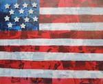 Mixed media American Flag