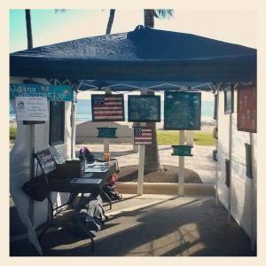 My booth at the  Deerfield Beach Art Festival