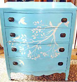 Gorgeous Stencil Dresser