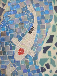 Detail of it grouted
