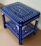 The Blue uber Stenciled Table