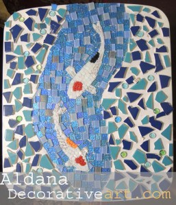 """The Beauty"" My koi Mosaic"