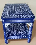 The Blue Stenciled table, a little stenciling is not enough