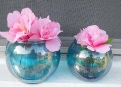Two blue vases Elegant Shinny Blue Beauties