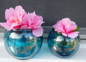 2 Vases DIy Mercury glass