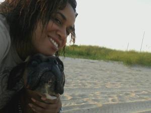 me and old girl dog, Milu