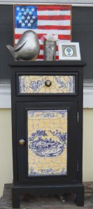 Little Mosaic cabinet Finally Done!