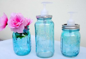 Colored mason jars