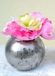 5 inch Faux Mercuy Glass vase
