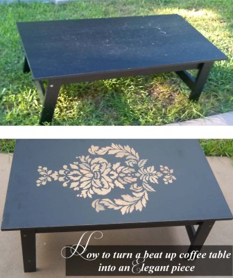 How to turn a beat up table into an Elegant Beauty