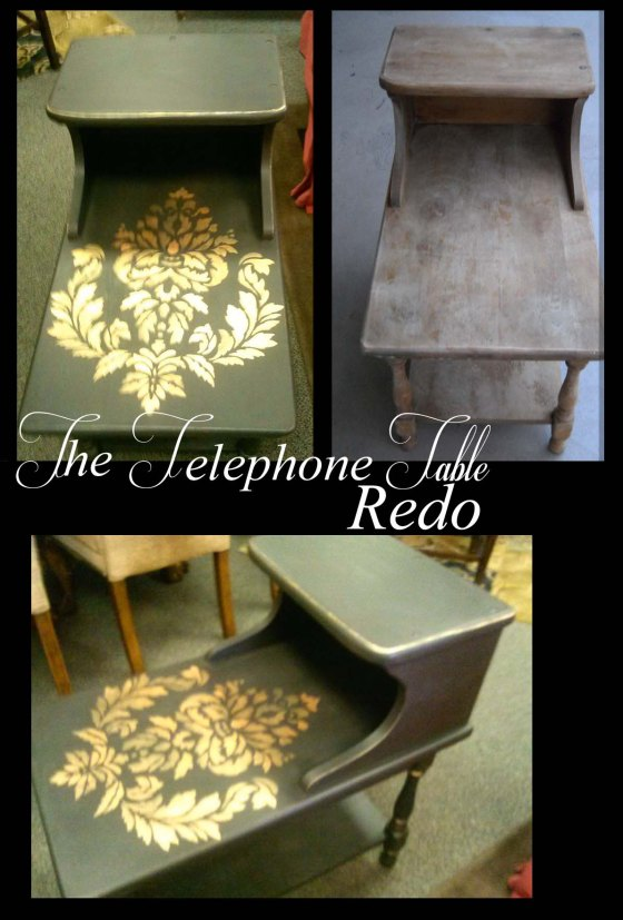 The Black Telephone Table redo