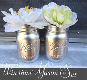 Win these two Silver Mason Jars