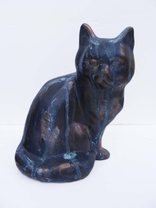 Cat with his green Verdigris Patina