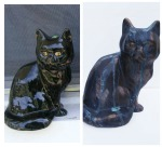 Scary to Classy: Kitty get a make over with green Verdigris Patina